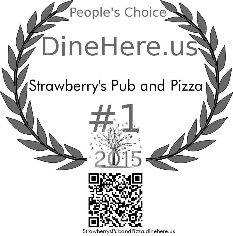 Strawberry's Pub and Pizza DineHere.us 2015 Award Winner